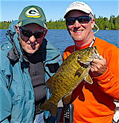 Father & Son Fishing Memories Trophy Smallmouth by John Sr and John